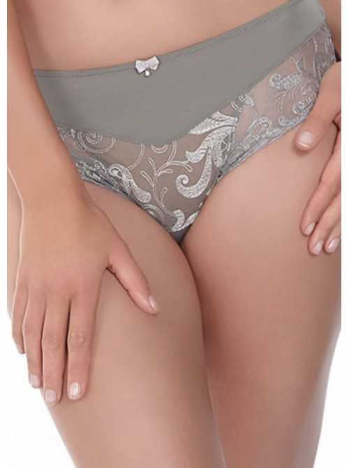Culotte Grande taille coupe italienne Allegra Argent
